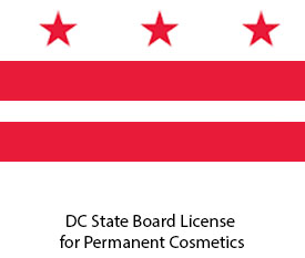 DC State Board License for Permanent Cosmetics