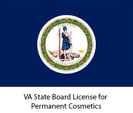 VA State Board License for Permanent Cosmetics